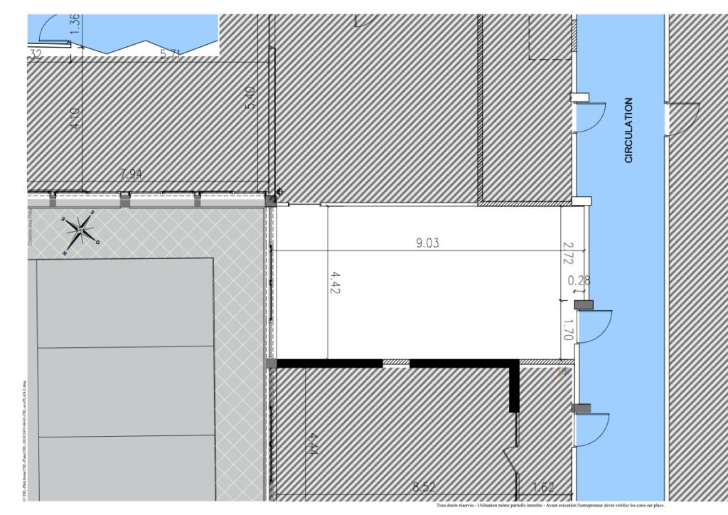 Bureau 5 plan au sol